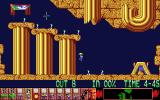 Lemmings Atari ST Floating down safely...