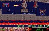 Lemmings Atari ST A firey level