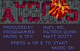 Xybots Lynx Title screen and credits. The title explodes in.