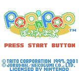 Pop'n Pop Game Boy Color Title screen