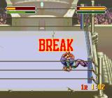 Astral Bout SNES The ref called for a break in the fight