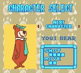 Yogi Bear: Great Balloon Blast Game Boy Color Select your character