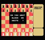 Master Chess MSX Do you want white or black?