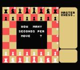 Master Chess MSX How many seconds per move?