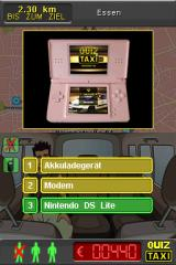 Quiz Taxi Nintendo DS Answer: A classic self-reference joke!