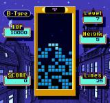 Super Tetris 2 + Bombliss SNES Playing a B-Type game with blocks already in the well