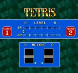 Super Tetris 2 + Bombliss SNES Setting up height and speed level for both players in a two player game