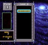 "Super Tetris 2 + Bombliss SNES The game proclaims ""Excellent"" after a puzzle is solved"