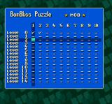 Super Tetris 2 + Bombliss SNES Checkmarks show which puzzles have been solved