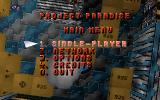 Project Paradise DOS Main menu