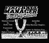 Football Manager: World Cup Edition 1990 MSX Title screen and credits