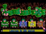 Lemmings Amiga Main menu