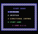 Nightshade MSX Title screen and main menu