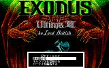 Exodus: Ultima III PC-98 Title screen