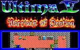 Ultima V: Warriors of Destiny PC-98 Title screen