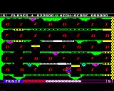 Jet-Boot Jack BBC Micro Level 5 - the final level on the BBC