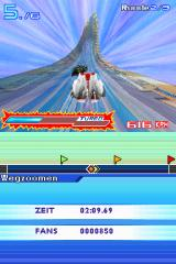 Speed Racer: The Videogame Nintendo DS Doing stunts will fill up your turbo bar. If you fill it up to the end you can use super turbo mode.