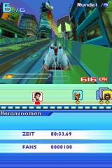 Speed Racer: The Videogame Nintendo DS On the lower screen you can see that I am way behind at the moment.