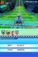 Speed Racer: The Videogame Nintendo DS Acceleration pads give you a huge speed boost - usually right before big jumps.