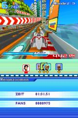 Speed Racer: The Videogame Nintendo DS The tracks are generally very colorful.