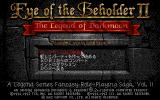 "Eye of the Beholder II: The Legend of Darkmoon PC-98 The ""real"" title screen + main menu"
