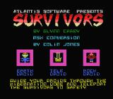 The Survivors MSX Title screen and credits