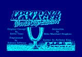 Football Manager: World Cup Edition 1990 Amstrad CPC Title, credits and loading screen