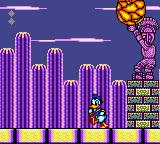 "The Lucky Dime Caper starring Donald Duck Game Gear The ""Mesoamerican"" boss throws big rocks at us."