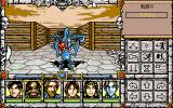Might and Magic: Darkside of Xeen PC-98 Fighting a goblin in the city