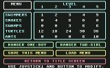 Park Patrol Commodore 64 Menu