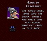 Speed Racer in My Most Dangerous Adventures SNES My opponents, the Gang of Assassins.