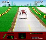 Speed Racer in My Most Dangerous Adventures SNES Making the car jump.
