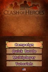 Might & Magic: Clash of Heroes Nintendo DS You can play the campaign, practice in single player, or go online to play against your friends.