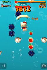 Hello Kitty: Parachute Paradise iPhone Collect Apples and Items, avoid everything else.