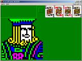 Graphics displayed when FreeCell is won