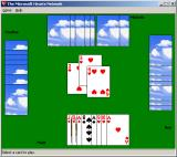 Microsoft Windows XP (included games) Windows A game of Hearts in progress