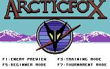 Arcticfox Commodore 64 Title screen