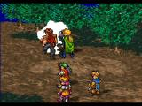 Suikoden PlayStation Boss battle. Combo attack by Gremio and Pahn