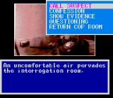 Murder Club TurboGrafx CD Interrogation room