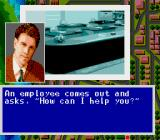 Murder Club TurboGrafx CD You are welcomed by an employee...