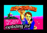 Kung-Fu: The Way of the Exploding Fist Amstrad CPC Title and loading screen