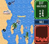 Toobin' Game Boy Color The Sphinx shoots lasers?
