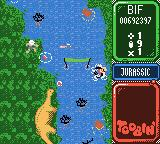 Toobin' Game Boy Color You know it's Jurassic. There's dinosaurs.