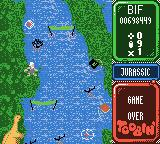 Toobin' Game Boy Color I lost all my lives and credits. Game over.
