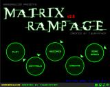 Matrix Rampage Browser Title Screen / Main Menu