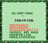 Die Maus: Verrückte Olympiade Game Boy Color Training. You can choose from the first three.