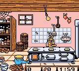 Die Maus: Verrückte Olympiade Game Boy Color Baking some pancakes, it looks like.