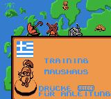 Die Maus: Verrückte Olympiade Game Boy Color On to the Maushaus in Greece.