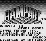Rampart Game Boy Title screen (US version)