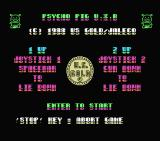 Psycho Pigs UXB MSX Title screen, instructions and credits